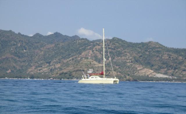 Côte Lombok depuis Gili Air
