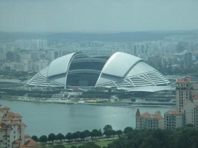 vue sur le stade depuis le Singapore flyer