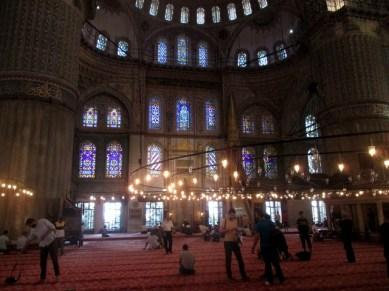 intérieur mosquée bleue Istanbul