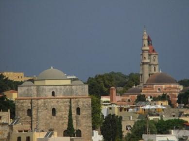 vue cité médiévale Rhodes