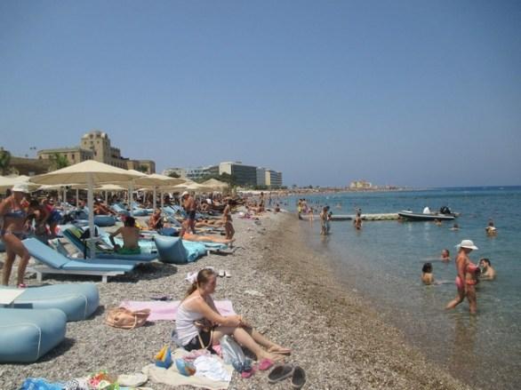 plage ville de Rhodes