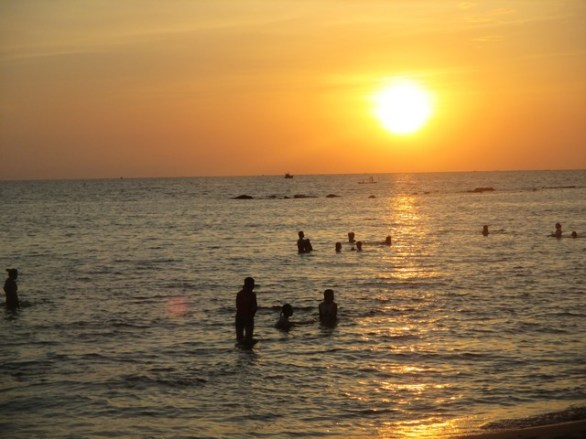 coucher soleil plage Ong Lang Phu Quoc
