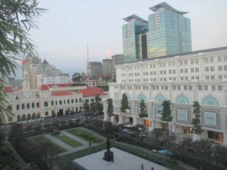 Vue depuis terrasse hôtel Rex Saigon
