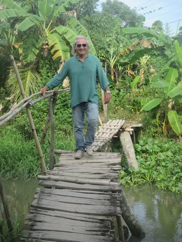 balade au bord du petit canal Mékong