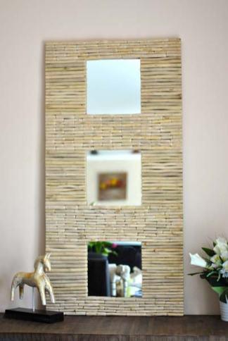 miroir trio naturel