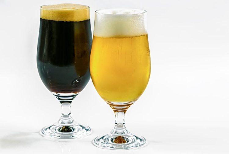 blonde brune biere