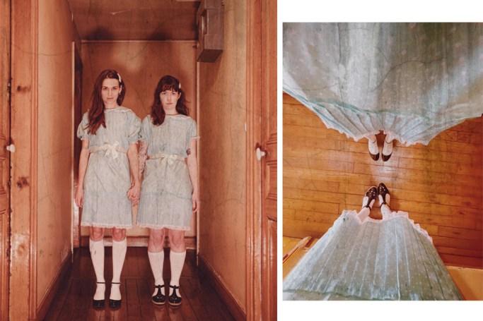 Mon déguisement avec Daphné : les jumelles de Shining.