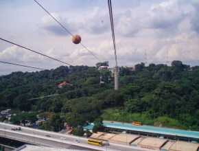 Photo vue Singapour Cable Car