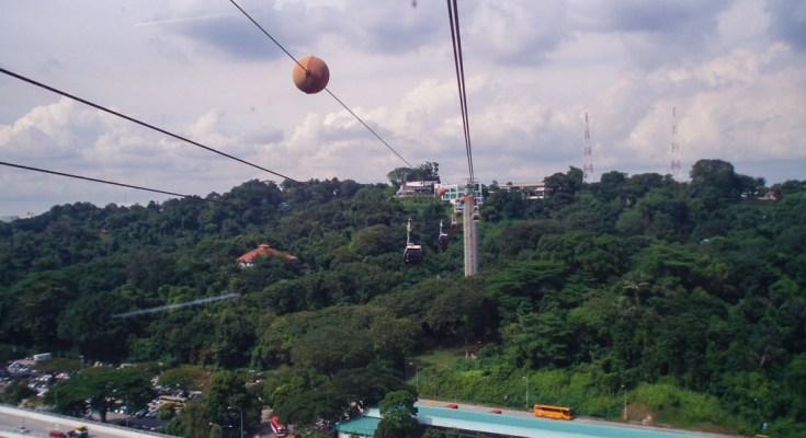 Photo vue Singapour Cable Car