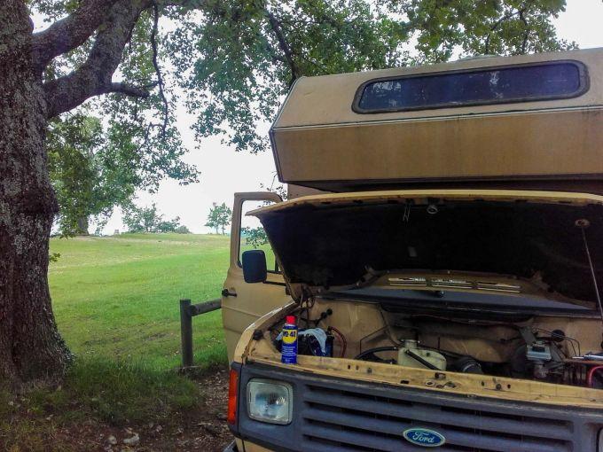 Photo camping-car panne
