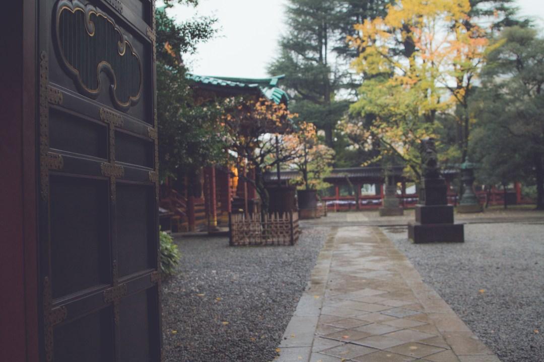 Carreaux au sanctuaire de Nezu
