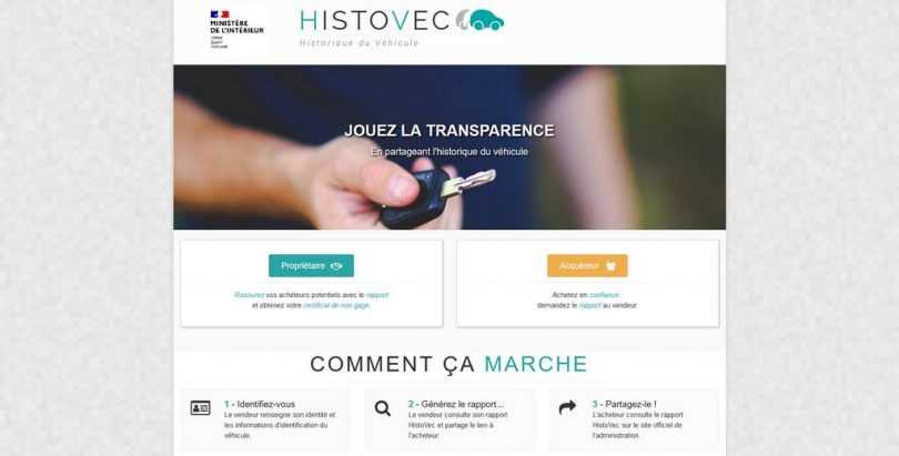 page accueil histovec