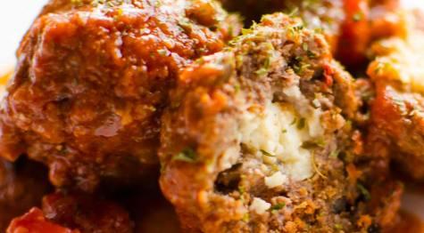 receta de albondigas rellenas de queso gamoneu