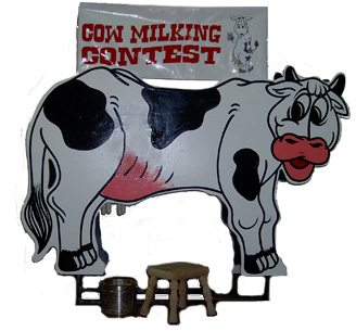 Cow Milking Contest Carnival Game