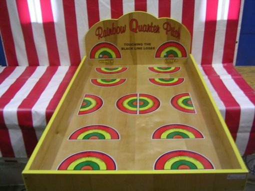 Rainbow Quarter Pitch Carnival Game