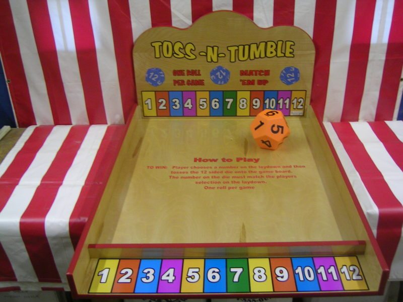 toss and tumble carnival game