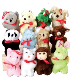 "4"" Assorted Plush Carnival Prize Plush"