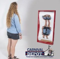 Funhouse Mirror 4' (Red Frame)