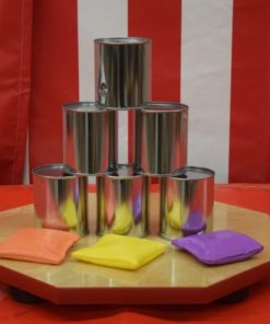 Tin Can Toss Carnival Game