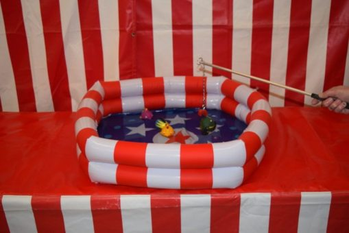 inflatable fish pond game