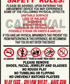 Carnival Safety Sign
