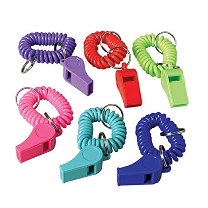 Coil Bracelet Whistle Key chains