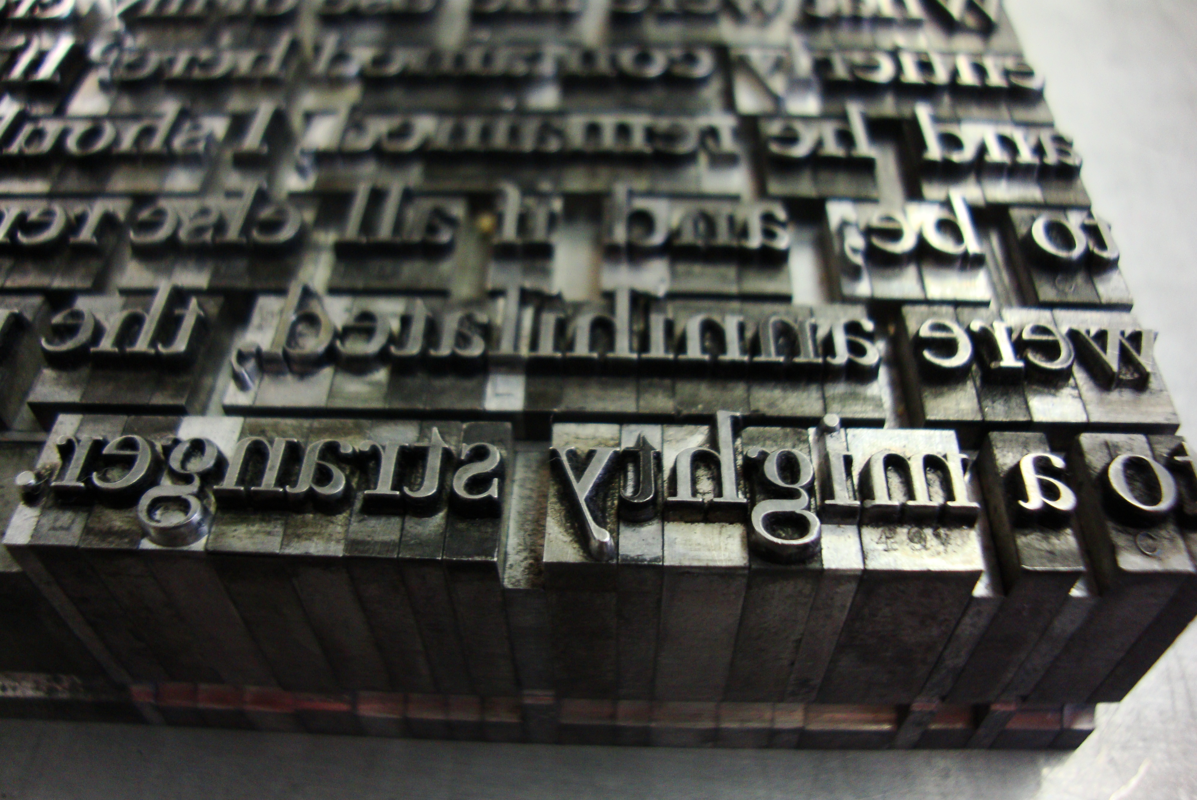 letterpress printing Pages
