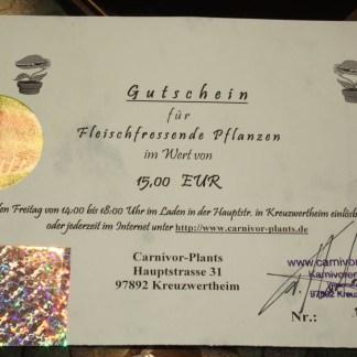 Gutschein 15,00 EUR