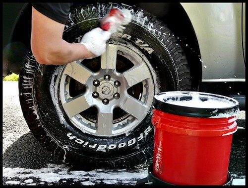 Clean Car Tires The Right Way: Apply Tire Clean Solution