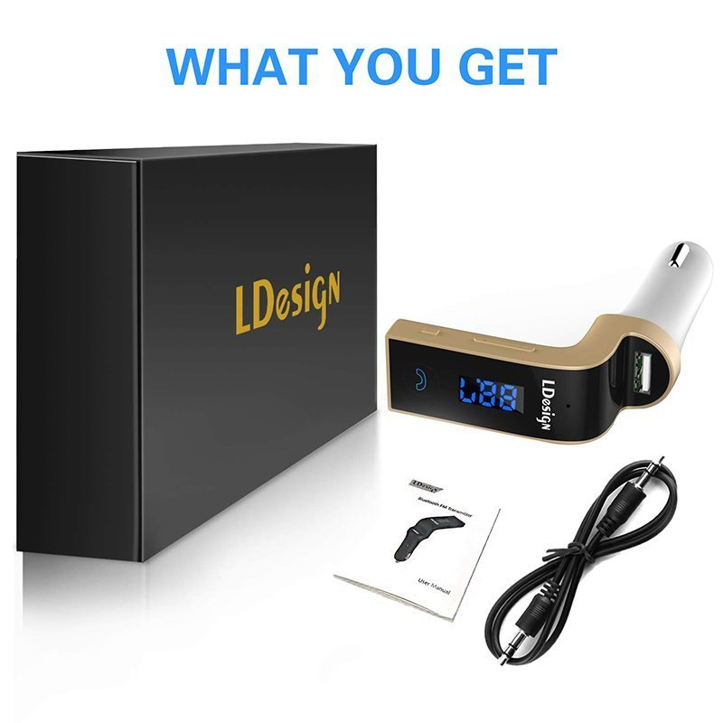LDesign FM Transmitter Bluetooth Wireless in-Car2