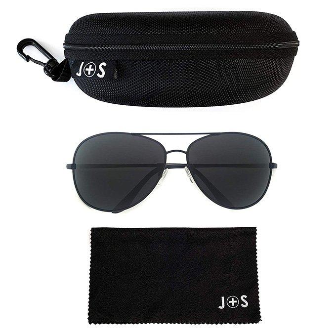 Premium Military Style Classic Aviator Sunglasses By J+S0