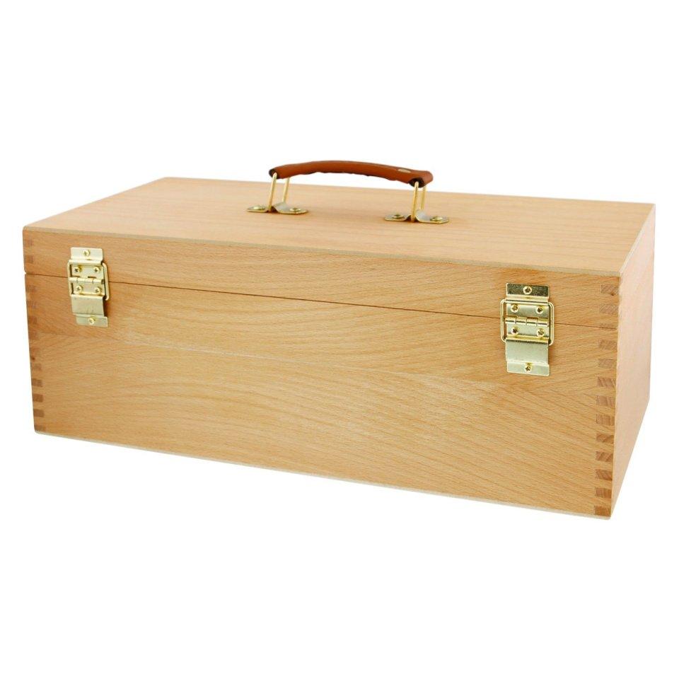 US Art Supply Artist Wood Pastel Pen Marker Storage Box0
