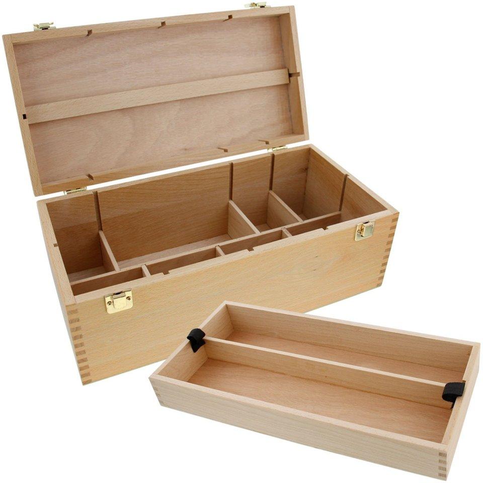 US Art Supply Artist Wood Pastel Pen Marker Storage Box1