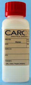 Metals Testing in Water Sampling Bottle