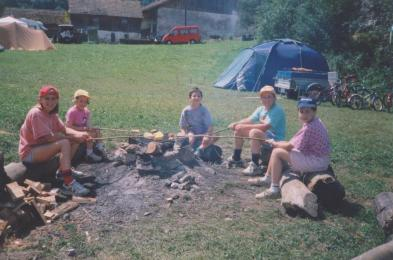 Caro 11 ans et demi, camping a la ferme - Jura 002