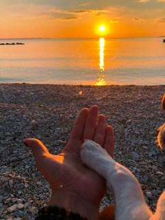 Caro et Cosmos couché soleil Zadar