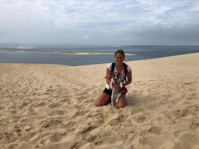 Dune Pilat avec son chien (13)