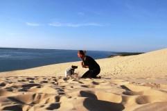 Dune Pilat avec son chien (24)
