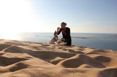 Dune Pilat avec son chien (26)