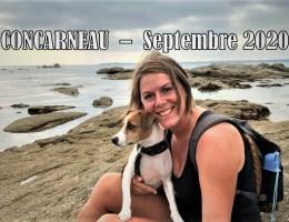Concarneau avec son chien Bretagne