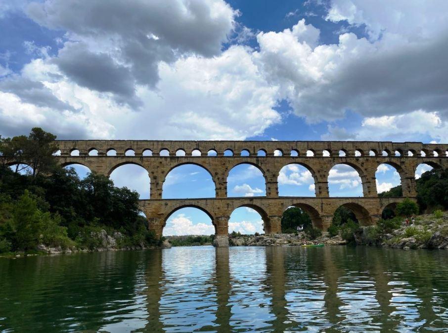 le Pont du Gard, en Canoë