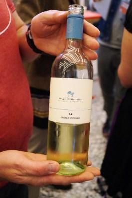 Grüner Veltliner vom Winzer Hager Matthias im kleinen Weinbauort Mollands in Österreich.