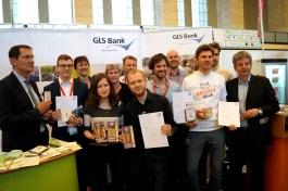 Hier nochmal alle Gewinner des Start-Up Wettbewerbs bei der Bekanntgabe.