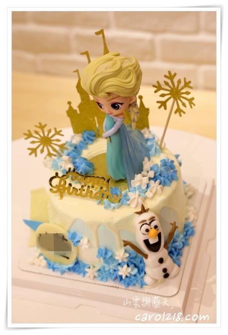 lalasoCafe,冰雪奇緣蛋糕,台中卡通蛋糕,台中生日蛋糕,台中造型蛋糕,史迪奇蛋糕,拉拉手咖啡