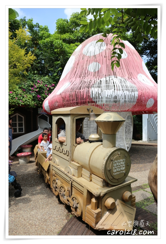 [大坑]紙箱王創意園區~迴轉溜滑梯、紙製小火車、豐富好玩的景觀餐廳