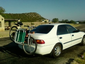 Me and My car Jime loaded for adventure.