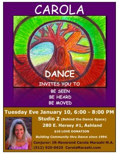 Carola Dance: Be Seen, Be Heard, Be Moved