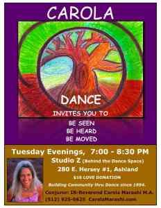 Carola Dance Tues Jan 17th 7-8:30 PM