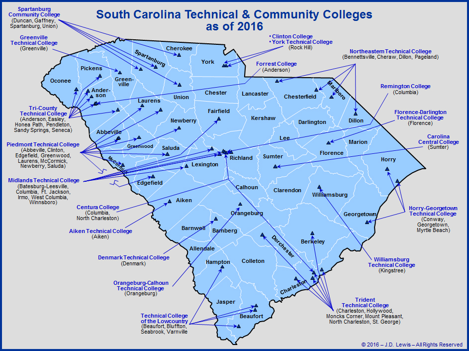 Map Of North Carolina Colleges Pictures To Pin On