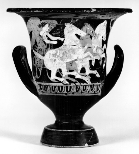Calyx-Krater with Driver, Chariot, and Three Horses 2nd quarter 4th century BC